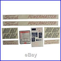 1115-2111 Ford New Holland Parts Decal Set 801 841 851 ROUND BALER 861