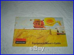 1971 New Holland buyer's guide brochure balers wagons combines mowers