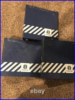 3 New Holland Tractor Machinery 3-Ring Parts Service Manual Binder Blue Empty