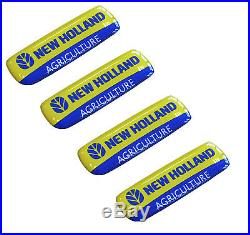 4 x Domed 3D New Holland Agriculture Stickers Tractor Equipment Combine Balers