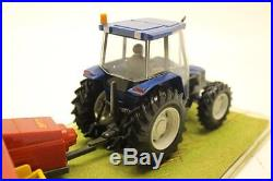 Britains Presentation Piece New Holland Farm Tractor with baler Collectable P9