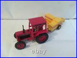 Britains Vintage Farm Volvo BM Tractor And New Holland Baler Excellent Condition