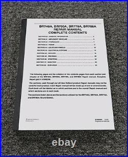 Case New Holland BR770A BR780A Round Balers Shop Service Repair Manual 87606303