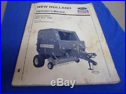 (Drawer 26) New Holland Ford Round Baler 640 650 660 Operator's Manual