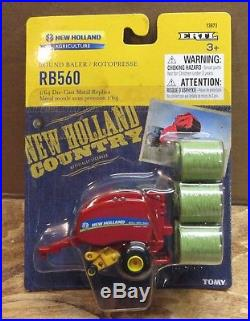 Ertl New Holland Rb560 Round Baler New In Pack 1/64 Scale