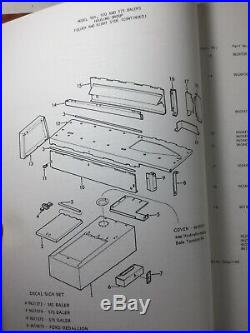 Ford, New Holland 565, 570, 575 Square Balers Parts Manual