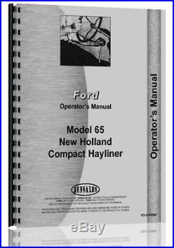 Ford New Holland 65 Compact Hayliner Baler Operators Manual