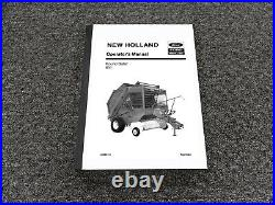 Ford New Holland 851 Round Baler Owner Operator Manual PN 42085113