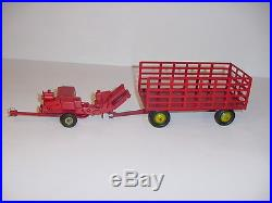 Hard To Find 1/28 New Holland Square Baler & Wagon by AP (1958)! Super Nice