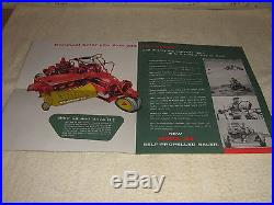 NEW HOLLAND 166 SELF-PROPELLED BALER SALES BROCHURE 1956-1957 FORD AGCO WHITE