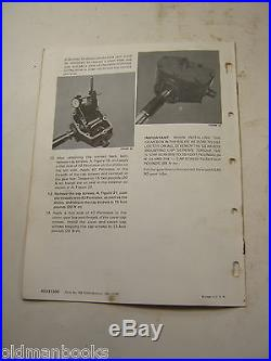 New Holland 278 282 Etc. Balers Service Instructions Feeder Drive Box Manual