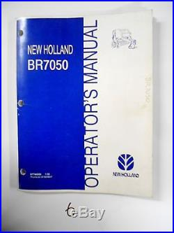 New Holland Br7050 Round Baler Operator's Owner's Manual 87744255 1/08