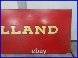 NEW HOLLAND FARM EQUIPMENT TRACTOR 49 x 14 AGRICULTURAL SIGN square Baler