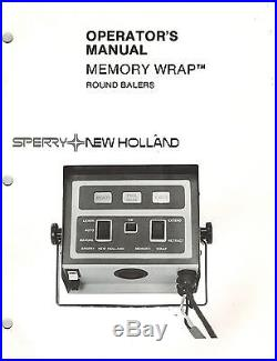 NEW HOLLAND MEMORY WRAP ROUND BALERS OPERATOR'S MANUAL NEW
