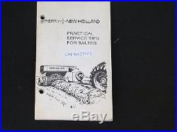 NEW HOLLAND PRACTICAL SERVICE TIPS FOR BALERS 1981