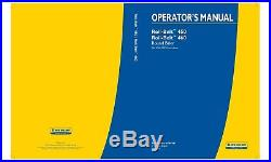 NEW HOLLAND ROLL-BELT 450 460 BALER SN PIN YGN192828 and above OPERATORS MANUAL