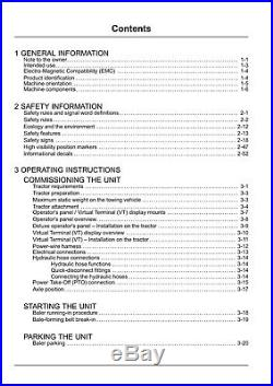 NEW HOLLAND ROLL-BELT 550 560 BALER PIN YHN195127 and above OPERATORS MANUAL