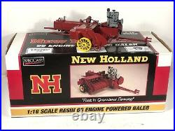 New Holland 116 Scale 66 Engine Powered Hay Baler SpecCast Rare Display