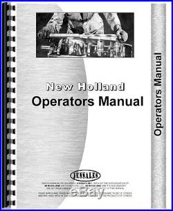 New Holland 311 Baler Operator and Tractor Service Manual (NH-O-311BLR)