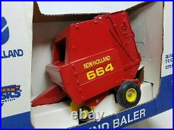 New Holland 664 Round Baler By Scale Models Ertl 1/16 Scale Farm Toy