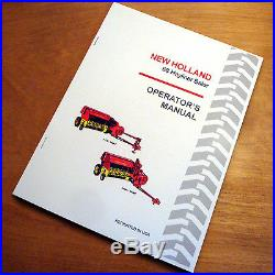 New Holland 68 Baler Hayliner Operator's Owners Book Guide Manual NH