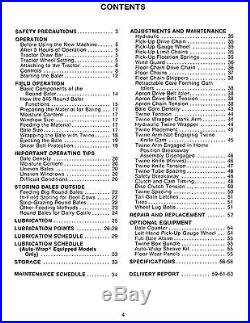 New Holland 846 Round Baler Operator's Owners Book Guide Manual NH Sperry