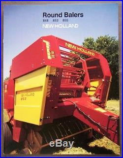 New Holland 848-853-855 Round Balers Dealers Sales Brochure