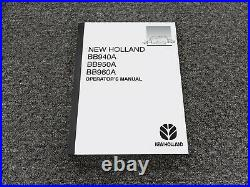 New Holland BB940A BB950A BB960A Square Baler Owner Operator Manual