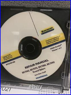New Holland BR7060 BR7070 BR7080 BR7090 Round Baler Service Repair Manual CD