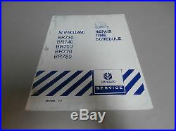 New Holland BR730 BR740 BR750 BR770 BR780 Baler Repair Time Schedule Manual
