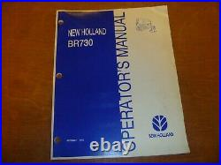 New Holland BR730 Round Baler Owner Operator Manual 86705467