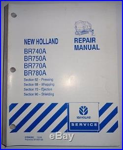 New Holland BR740A BR750A RR770A BR780A Baler PRESSING WRAPPING Service Manual
