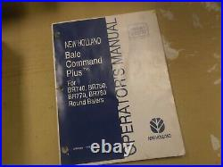 New Holland BR740 BR750 Round Baler Bale Command Plus Owner Operator Manual