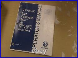 New Holland BR770 BR780 Round Baler Bale Command Plus Owner Operator Manual