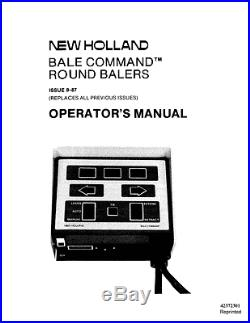 New Holland Bale Command Operators Manual For Round Baler 835 848 853 855 865