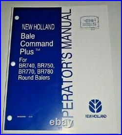 New Holland Bale Command Plus for BR740/750/770 BR780 Baler Operators Manual OEM