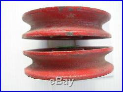 New Holland Baler Cast Wire Idler Roller withBushing #36022 2 New 1 Used