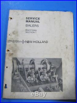 New Holland Balers Knotters Sect 1 Service Manual Oem 1981