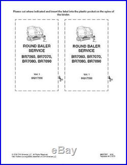 New Holland Br7060, Br7070, Br7080, Br7090 Rd Balers Service Manual