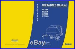New Holland Br7060, Br7070, Br7080, Br7090 Round Baler Operator`s Manual