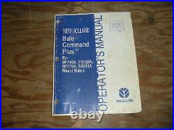 New Holland Command Plus BR740A BR750A Round Baler Operator Maintenance Manual