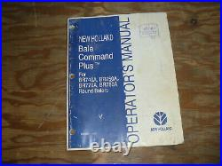 New Holland Command Plus BR770A BR780A Round Baler Operator Maintenance Manual