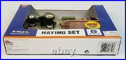 New Holland Haying Set Baler Rake Windrower Tractor Wagon By Ertl 1/64 Scale