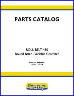 New Holland Roll-belt 450 Round Baler Variable Chamber Parts Catalog