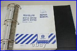 New Holland Round Baler Repair BR740 BR750 BR770 BR780 #86978625 4 Manuals