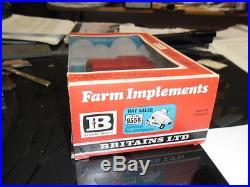 RARE VINTAGE BRITAINS. 9556, NEW HOLLAND BALER, 5 BAILS, STRAW, BOXED, HAD FROM NEW