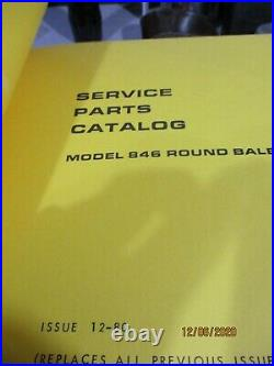 Sperry New Holland Round Baler Service Parts Catalog for 845,846,848,850 & more