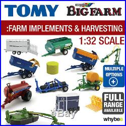 Tomy 132 Britains Farm Toys Farm Implements And Harvesting Equipment Range New