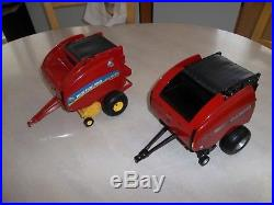 Two Near Mint 1/16 Die Cast Ertl New Holland 560 and Case IH RB 565 Balers